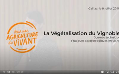 La végétalisation du vignoble – Journée technique Pour une Agriculture du Vivant – Agroécologie